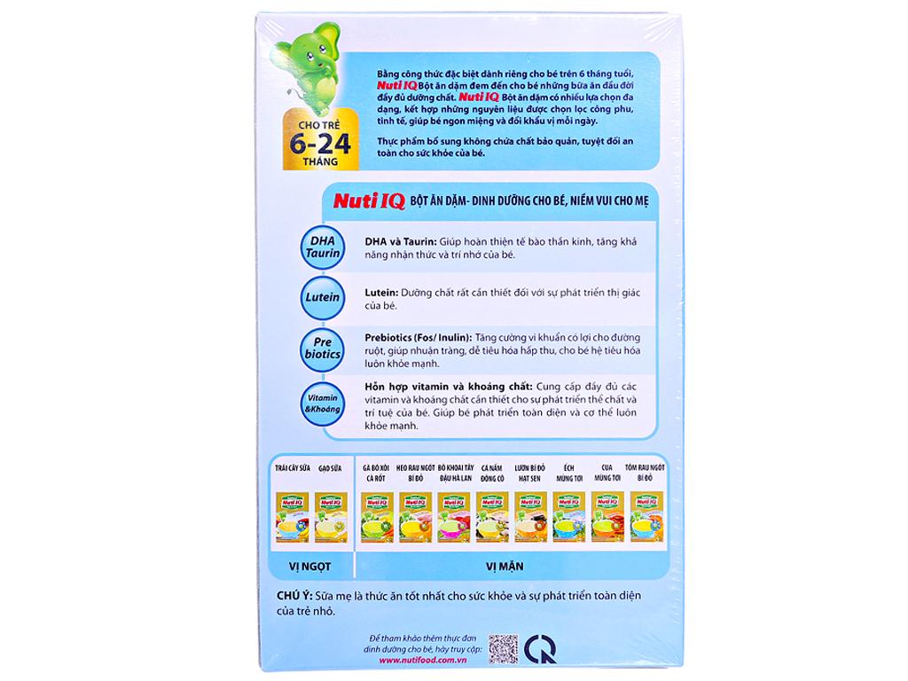 Bột ăn dặm NutiFood Nuti IQ ếch mùng tơi 6 - 24 tháng 200g 2