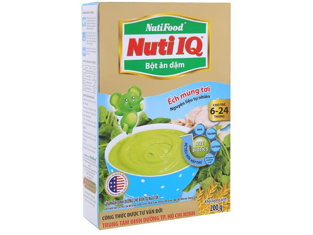 Bột ăn dặm NutiFood Nuti IQ ếch mùng tơi hộp 200g (6 - 24 tháng) 1
