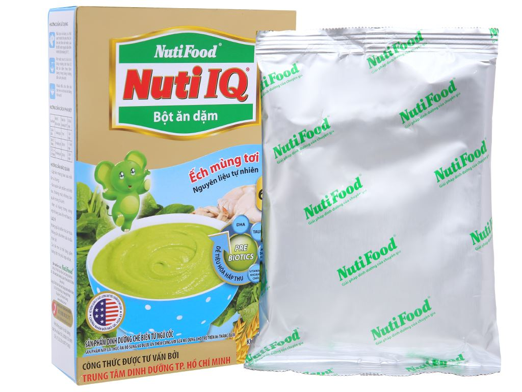 Bột ăn dặm NutiFood Nuti IQ ếch mùng tơi hộp 200g (6 - 24 tháng) 4