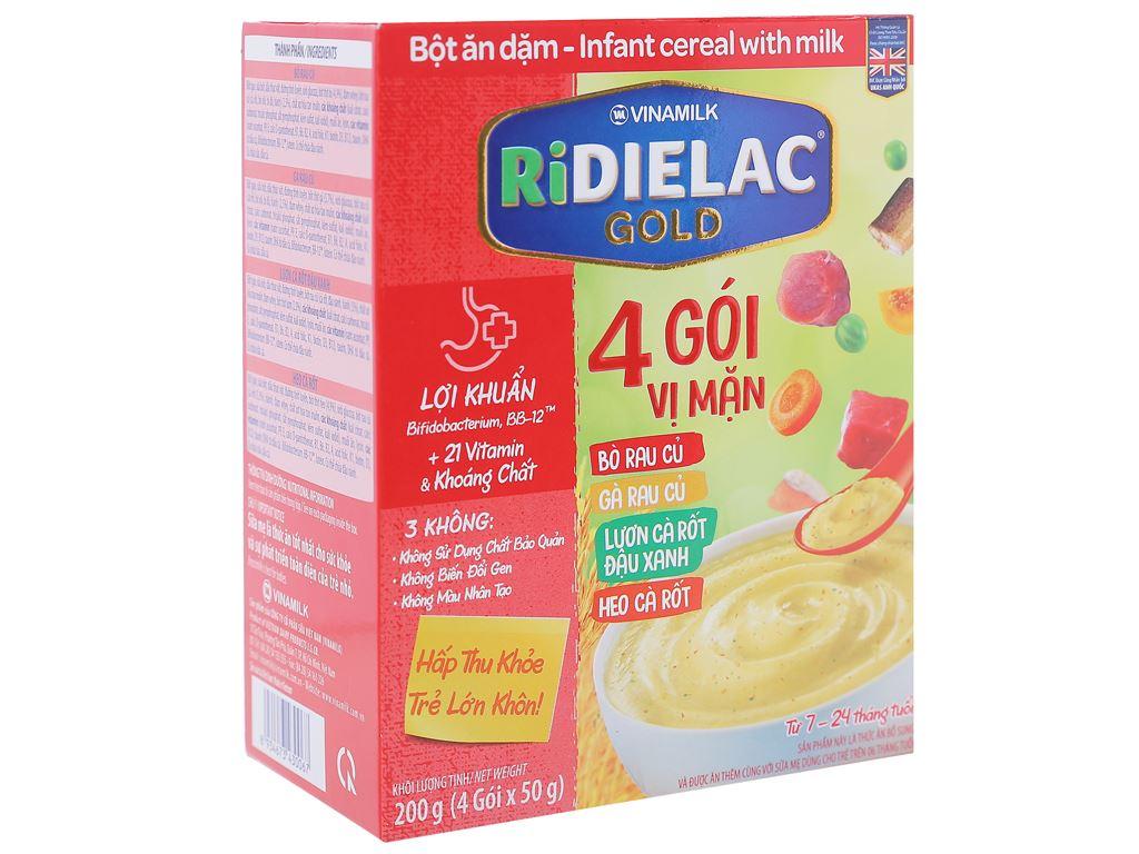 Bột ăn dặm Ridielac Gold 4 gói vị mặn hộp 200g (7 - 24 tháng) 1