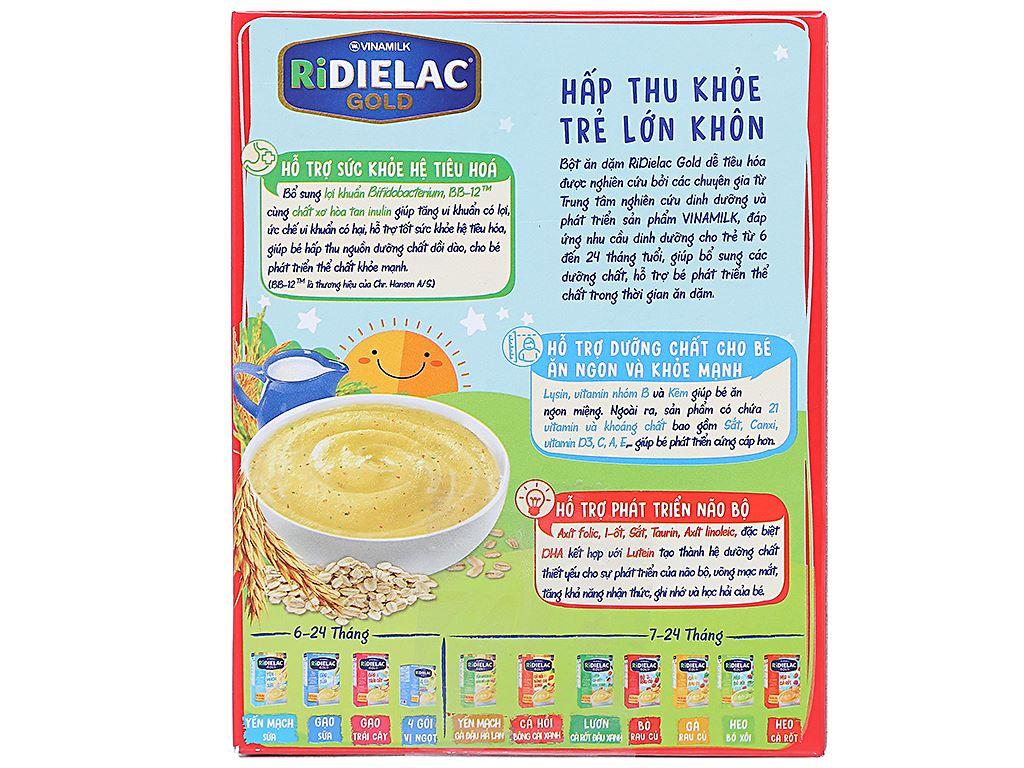 Bột ăn dặm Ridielac Gold 4 gói vị mặn hộp 200g (7 - 24 tháng) 2