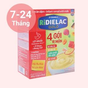 Bột ăn dặm Ridielac Gold 4 gói vị mặn hộp 200g (7 - 24 tháng)