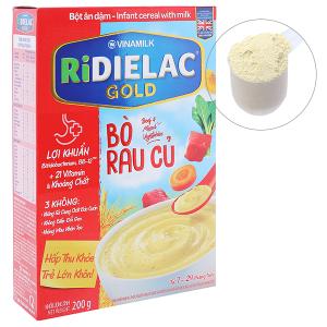 Bột ăn dặm Ridielac Gold bò rau củ hộp 200g (7 - 24 tháng)