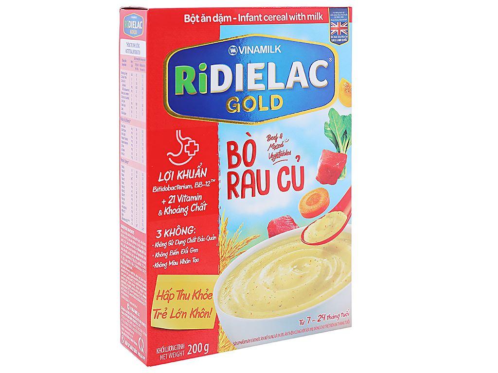 Bột ăn dặm Ridielac Gold bò rau củ hộp 200g (7 - 24 tháng) 1