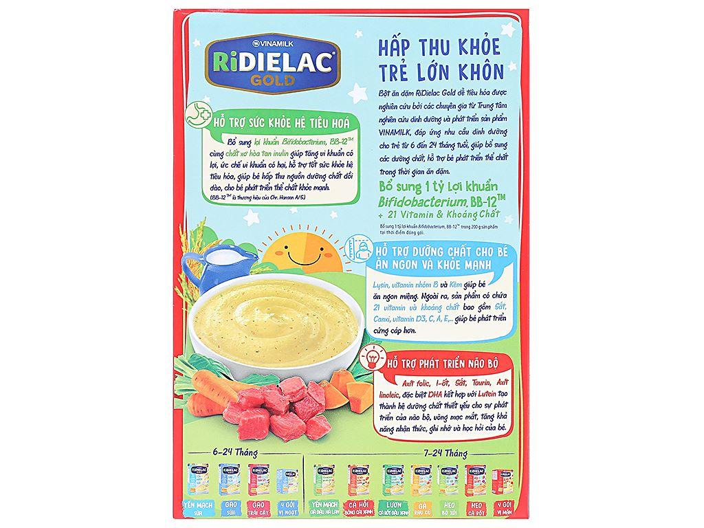 Bột ăn dặm Ridielac Gold bò rau củ hộp 200g (7 - 24 tháng) 2