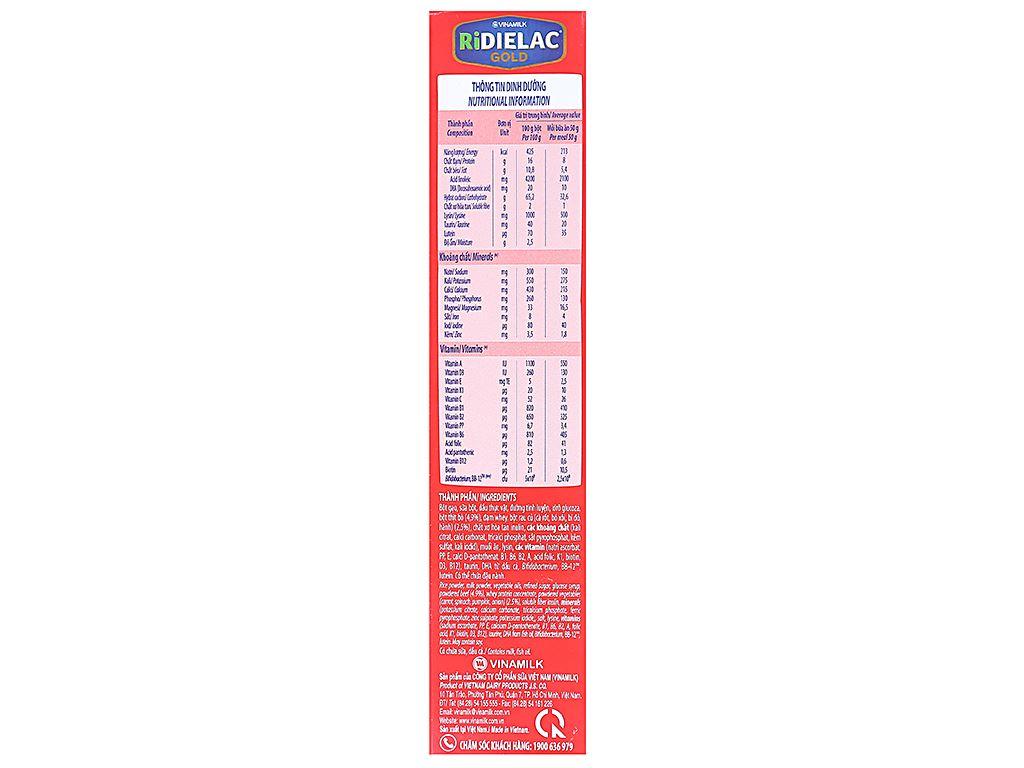 Bột ăn dặm Ridielac Gold bò rau củ hộp 200g (7 - 24 tháng) 3