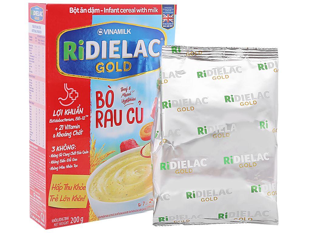 Bột ăn dặm Ridielac Gold bò rau củ hộp 200g (7 - 24 tháng) 4