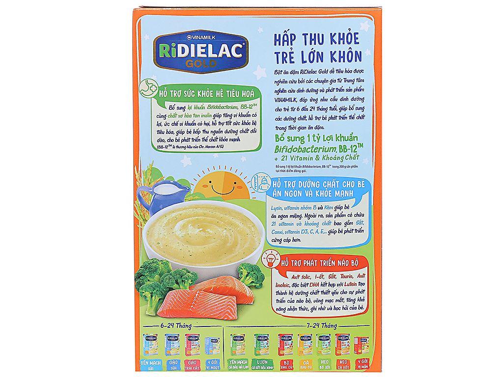 Bột ăn dặm Ridielac Gold cá hồi bông cải xanh hộp 200g (7 - 24 tháng) 2