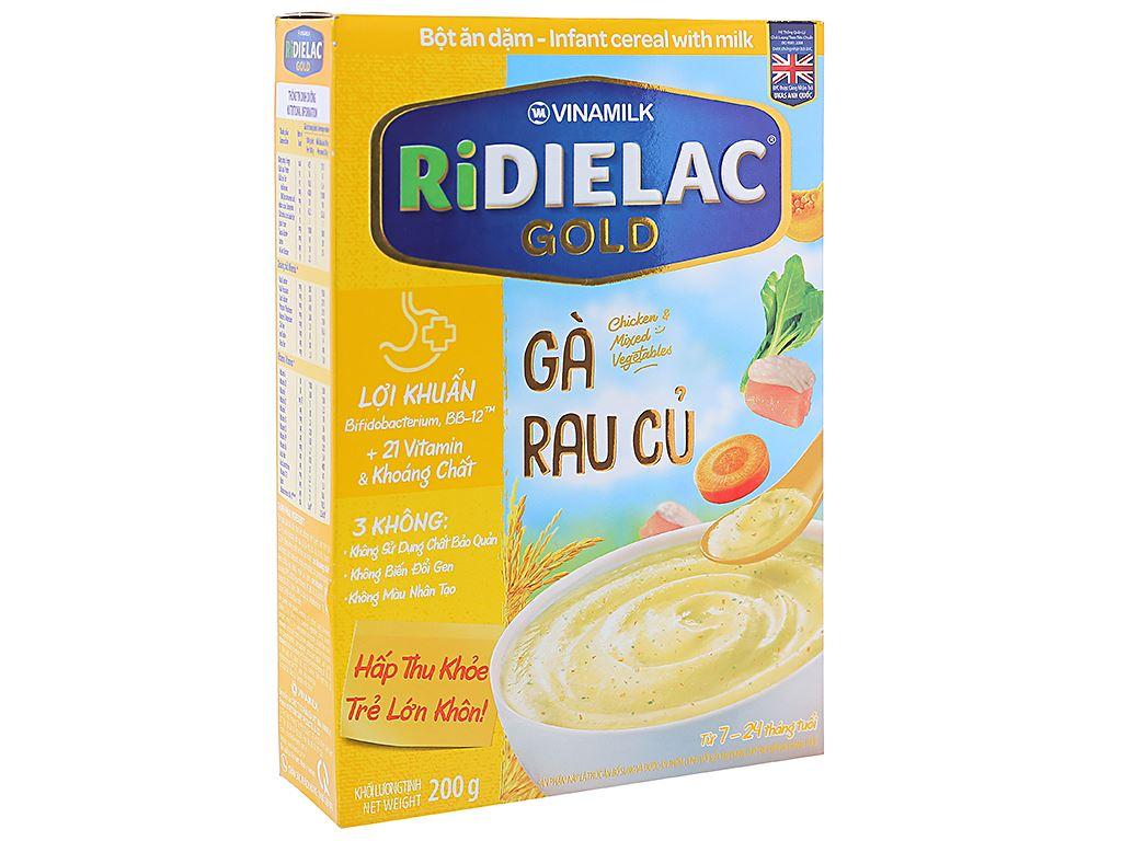 Bột ăn dặm Ridielac Gold gà rau củ hộp 200g (7 - 24 tháng) 1
