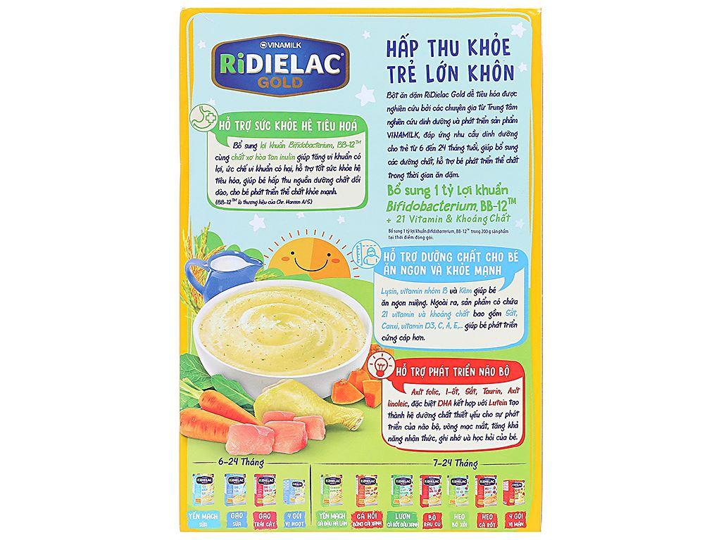 Bột ăn dặm Ridielac Gold gà rau củ hộp 200g (7 - 24 tháng) 2