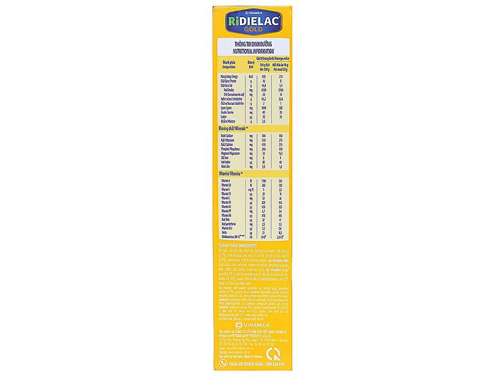 Bột ăn dặm Ridielac Gold gà rau củ hộp 200g (7 - 24 tháng) 3