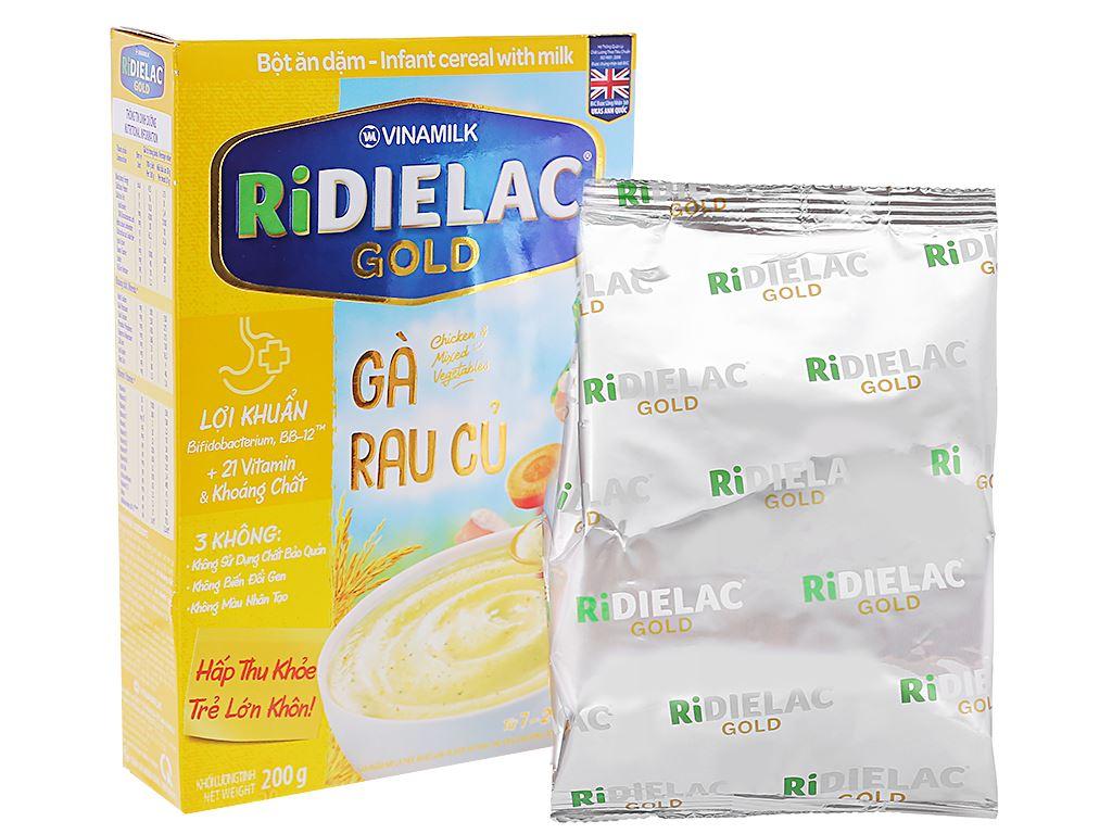 Bột ăn dặm Ridielac Gold gà rau củ hộp 200g (7 - 24 tháng) 4