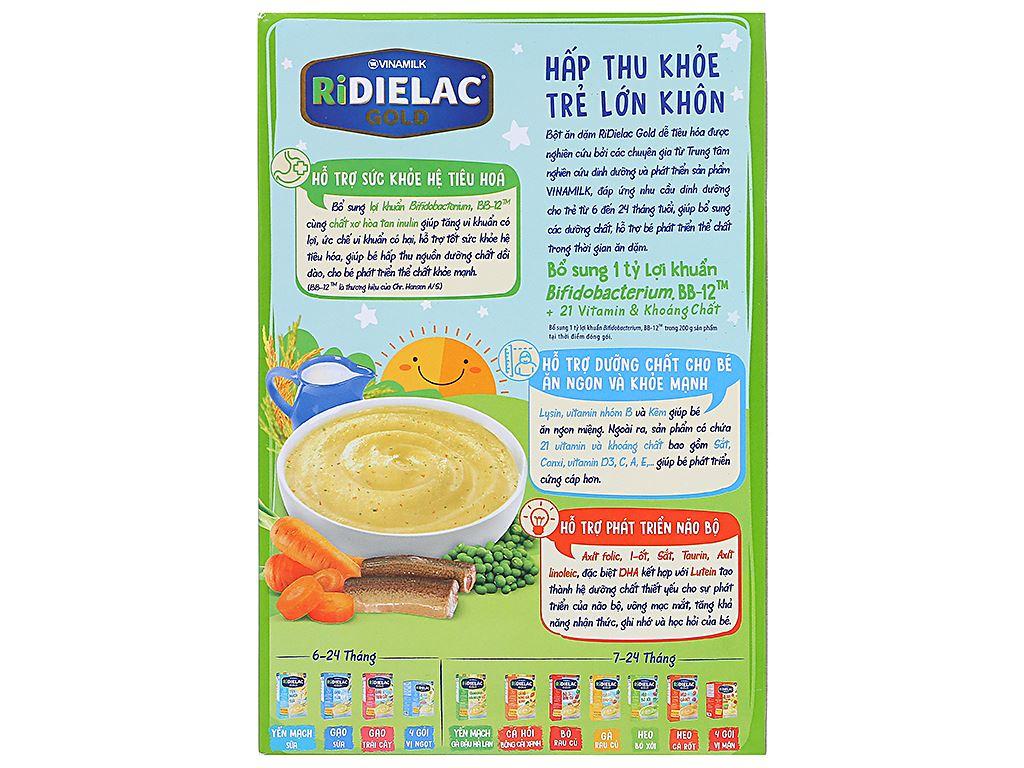 Bột ăn dặm Ridielac Gold Lươn cà rốt đậu xanh 7 - 24 tháng 200g 2