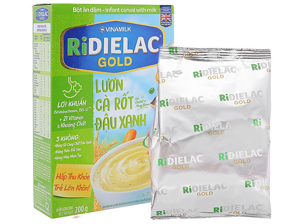 Bột ăn dặm Ridielac Gold Lươn cà rốt đậu xanh 7 - 24 tháng 200g 4
