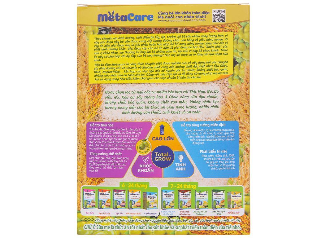 Bột ăn dặm Nutricare MetaCare 4 gói vị mặn hộp 200g (7 - 24 tháng) 2