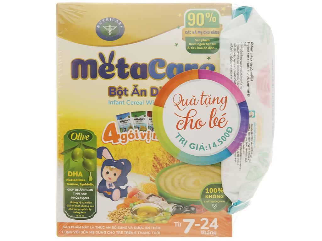 Bột ăn dặm Nutricare MetaCare 4 gói vị mặn hộp 200g (7 - 24 tháng) 1