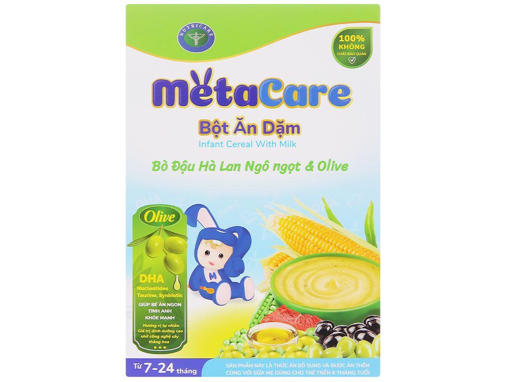 Bột ăn dặm Nutricare MetaCare bò đậu hà lan ngô ngọt & olive hộp 200g (7 - 24 tháng) 1