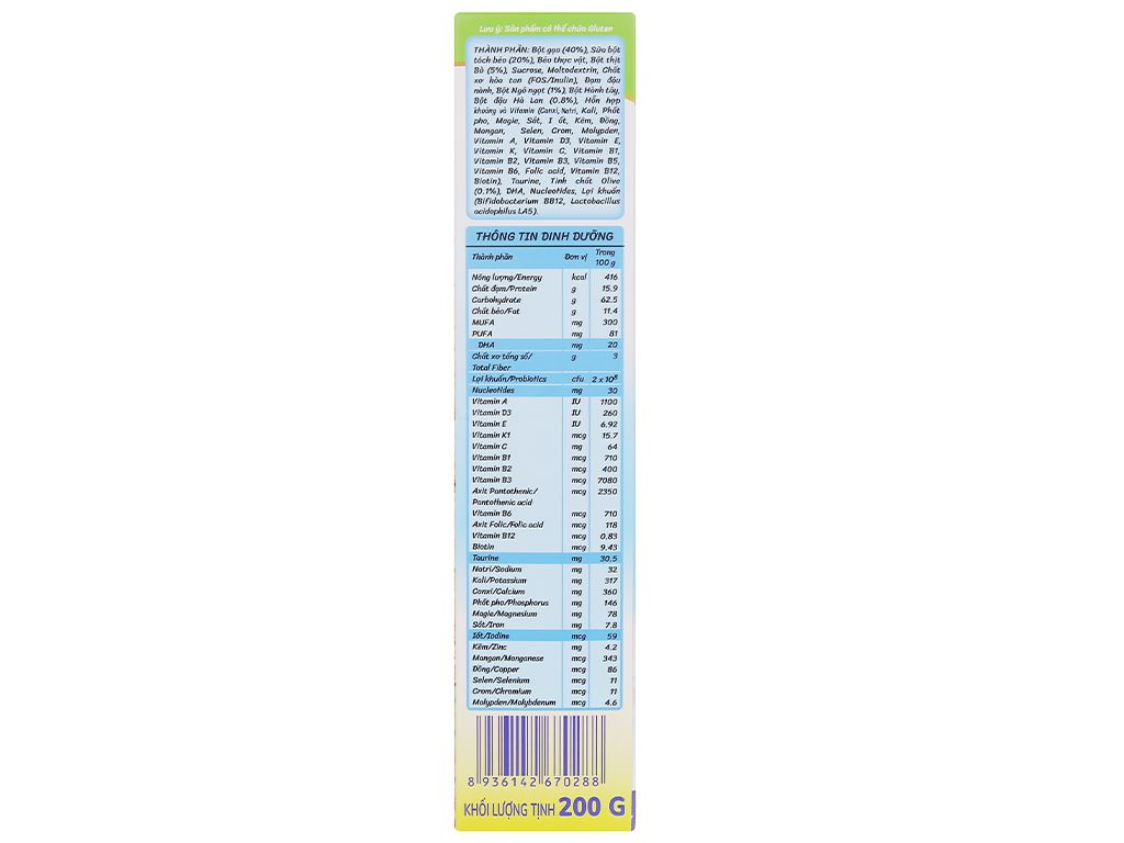 Bột ăn dặm Nutricare MetaCare bò đậu hà lan ngô ngọt & olive hộp 200g (7 - 24 tháng) 4