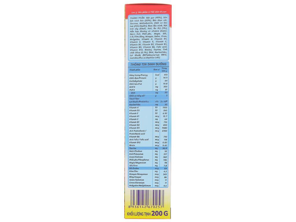 Bột ăn dặm Nutricare MetaCare gạo trái cây nhiệt đới & olive hộp 200g (6 - 24 tháng) 4