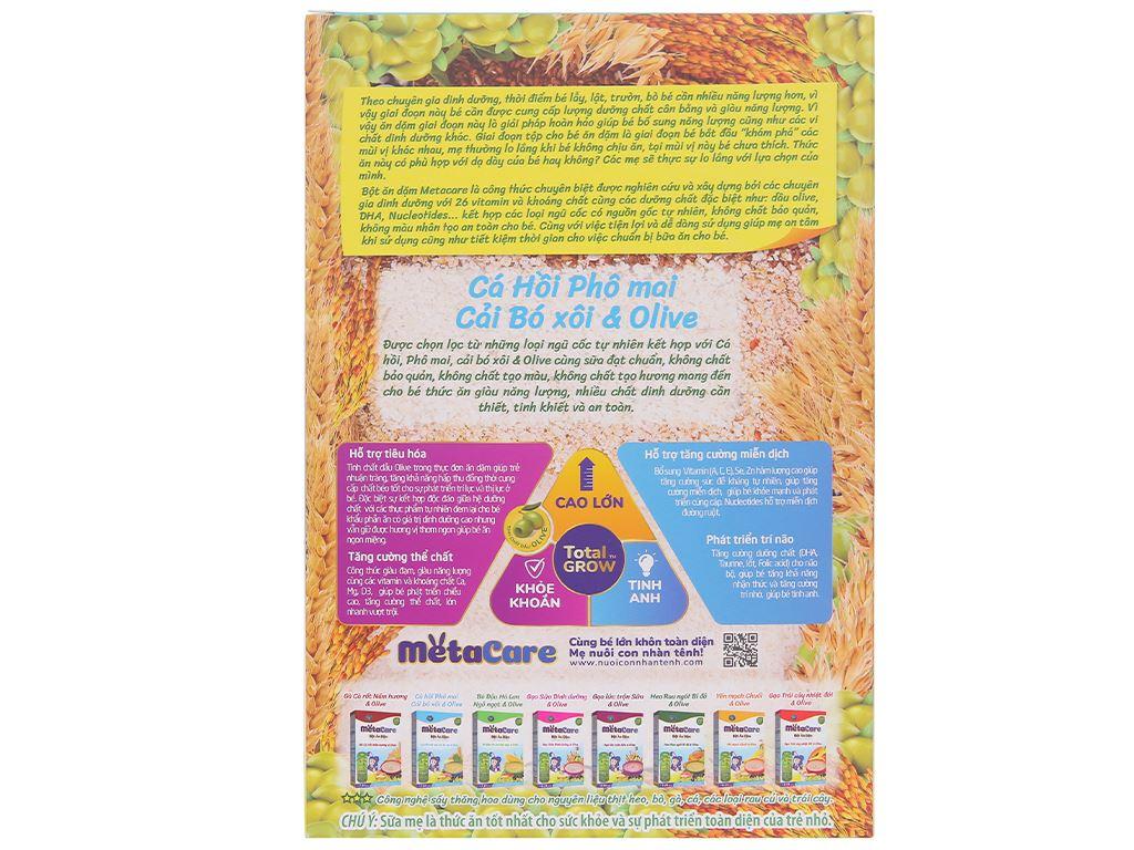 Bột ăn dặm Nutricare MetaCare cá hồi phô mai cải bó xôi olive hộp 200g (7 - 24 tháng) 2