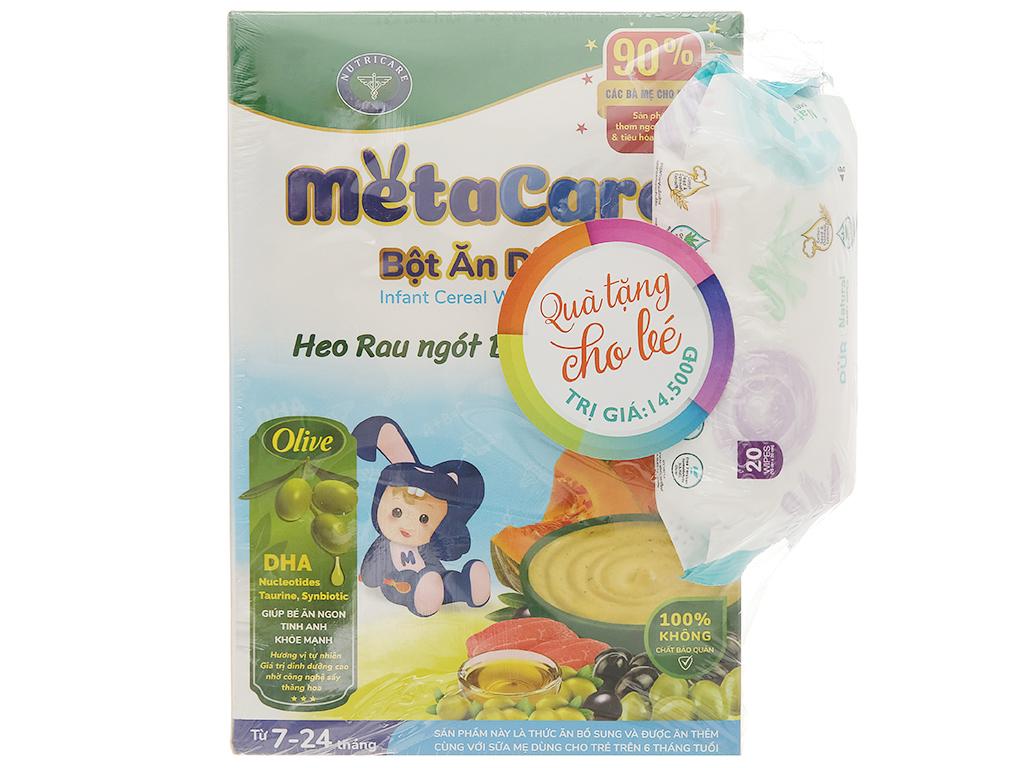 Bột ăn dặm Nutricare MetaCare heo rau ngót bí đỏ & olive hộp 200g (7 - 24 tháng) 1