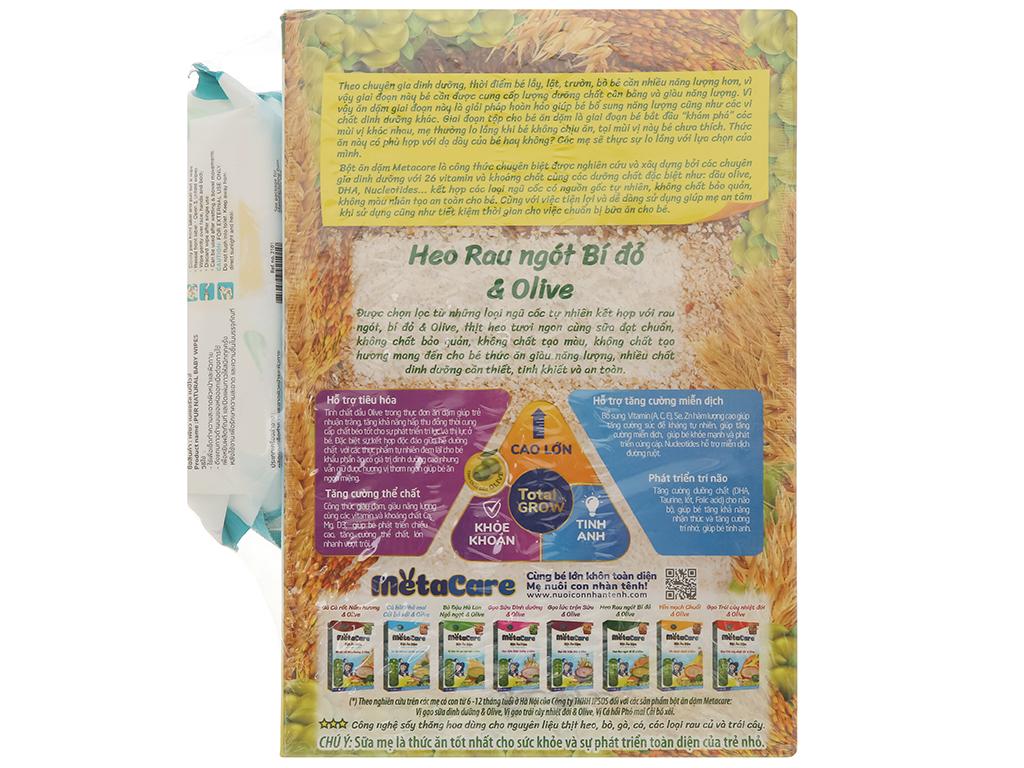 Bột ăn dặm Nutricare MetaCare heo rau ngót bí đỏ & olive hộp 200g (7 - 24 tháng) 2