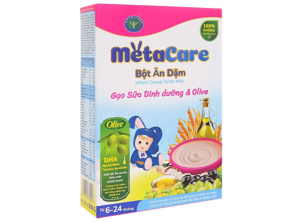 Bột ăn dặm Nutricare MetaCare gạo sữa dinh dưỡng & olive hộp 200g (6 - 24 tháng) 1