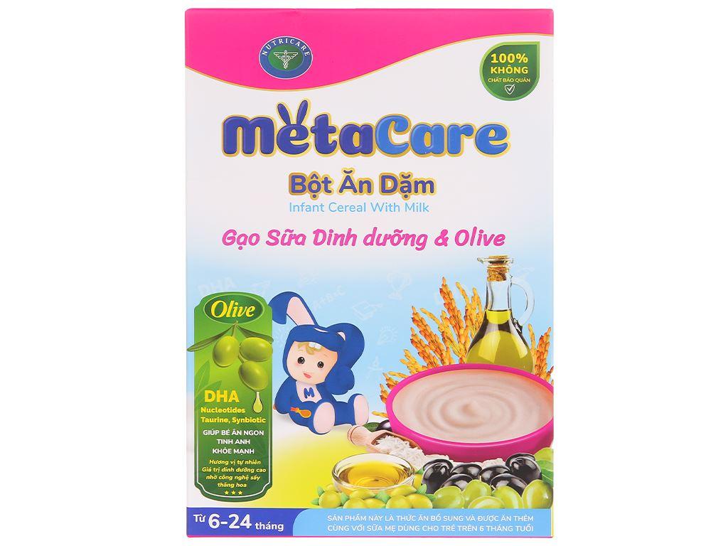 Bột ăn dặm Nutricare MetaCare gạo sữa dinh dưỡng & olive hộp 200g (6 - 24 tháng) 2
