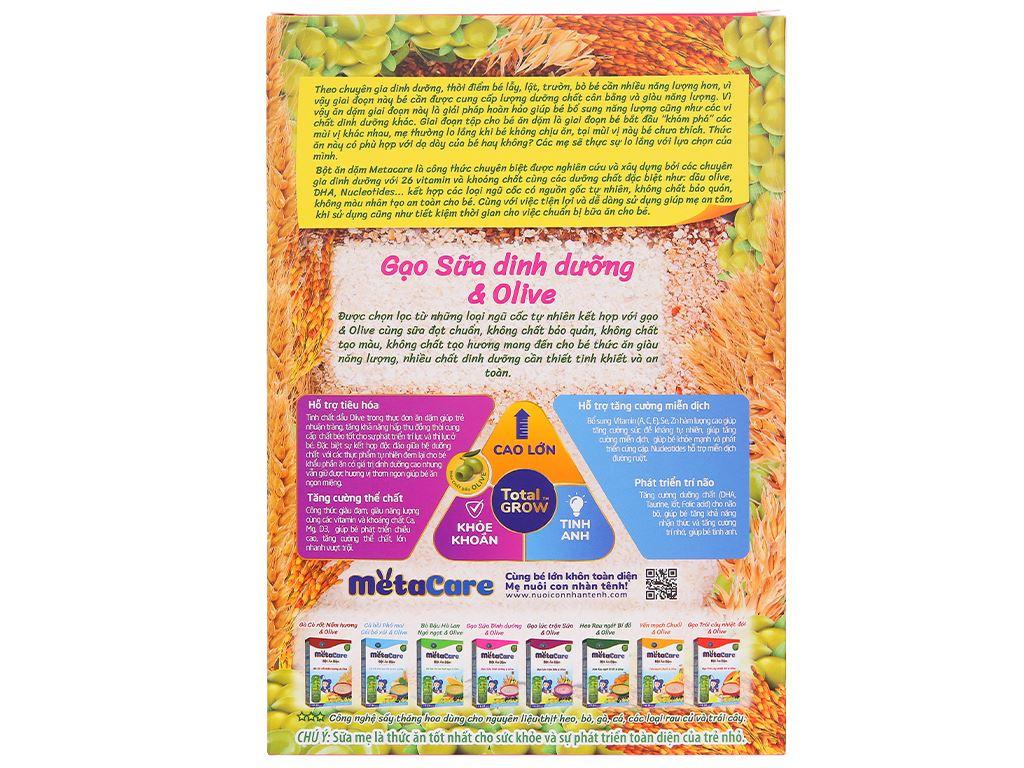 Bột ăn dặm Nutricare MetaCare gạo sữa dinh dưỡng & olive hộp 200g (6 - 24 tháng) 3
