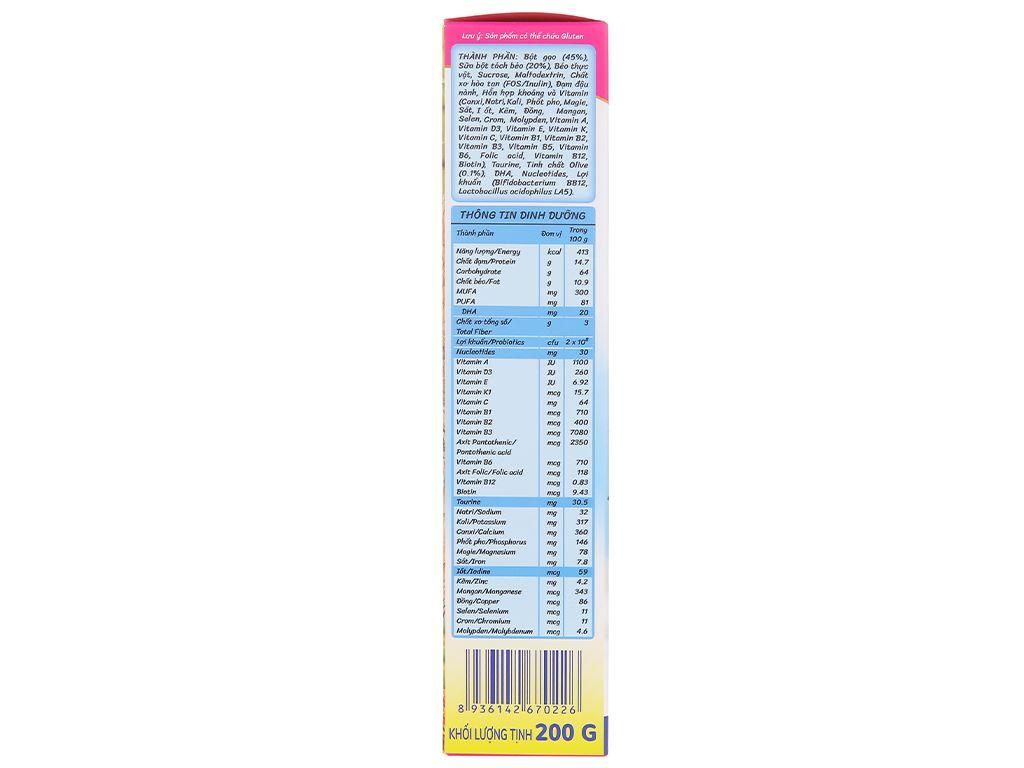Bột ăn dặm Nutricare MetaCare gạo sữa dinh dưỡng & olive hộp 200g (6 - 24 tháng) 4