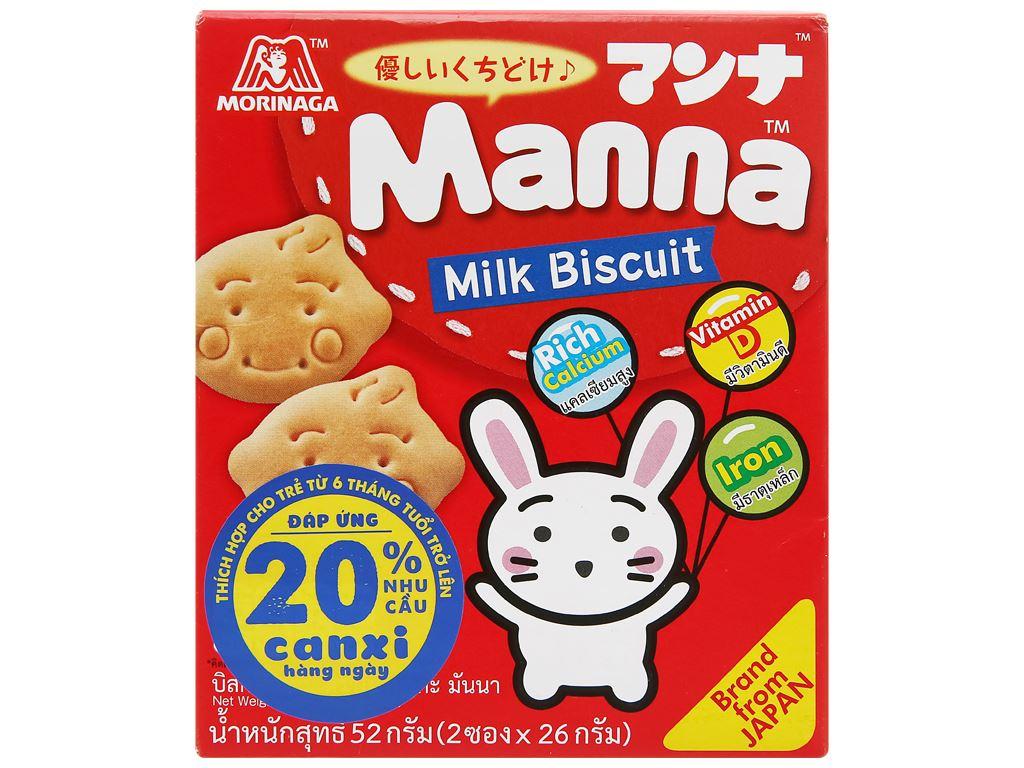 Bánh ăn dặm Manna hộp 52g 1