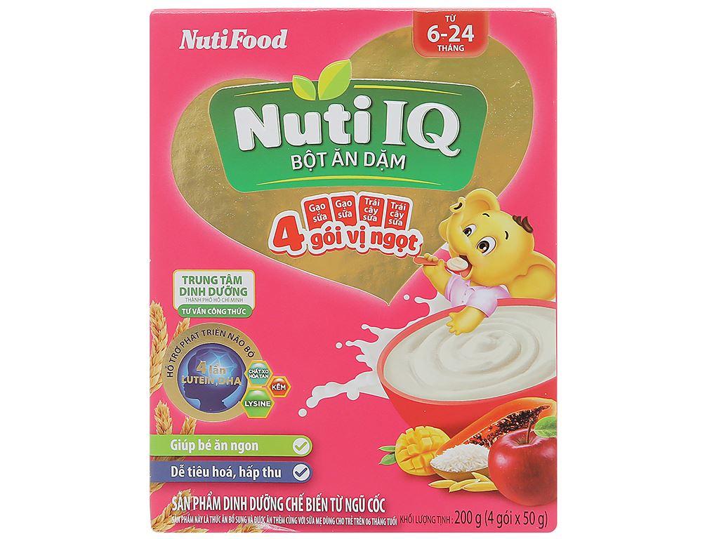 Bột ăn dặm NutiFood Nuti IQ 2 vị ngọt hộp 200g (6 - 24 tháng) 1
