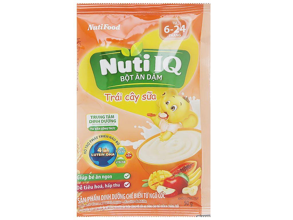 Bột ăn dặm NutiFood Nuti IQ 2 vị ngọt hộp 200g (6 - 24 tháng) 5