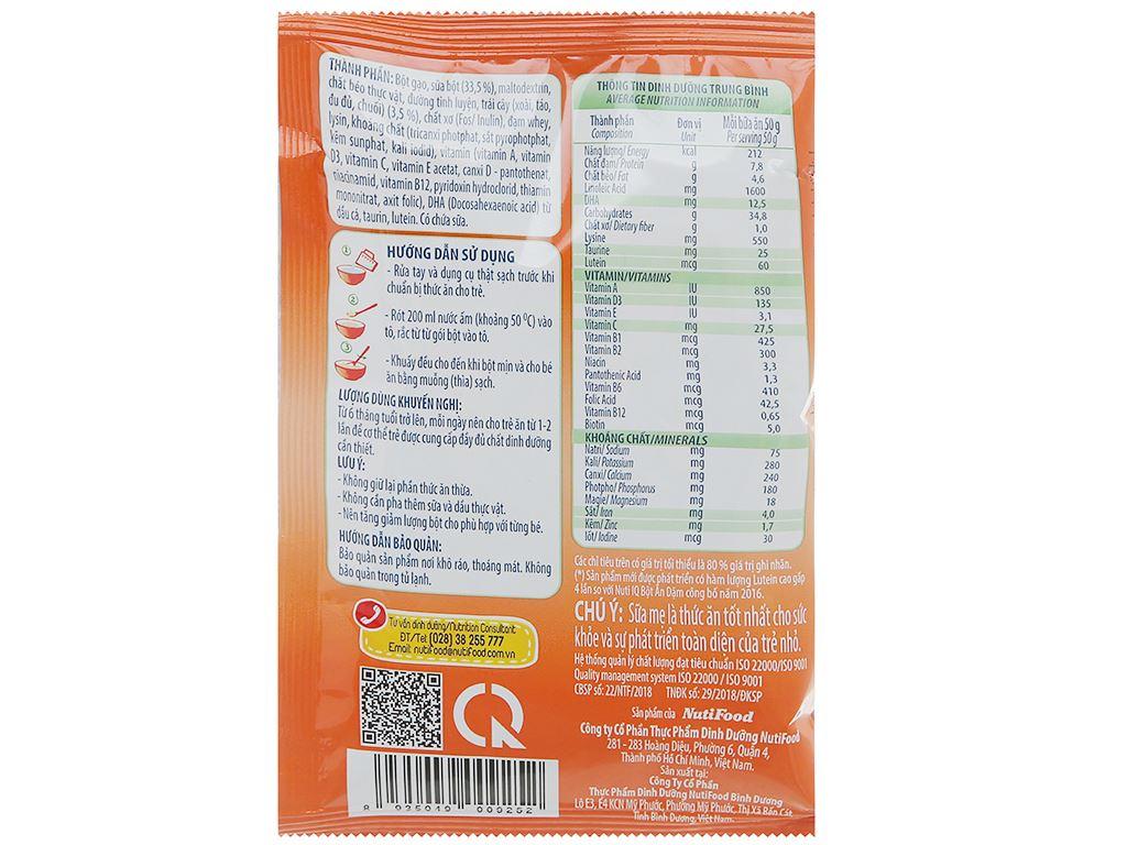 Bột ăn dặm NutiFood Nuti IQ 2 vị ngọt hộp 200g (6 - 24 tháng) 6