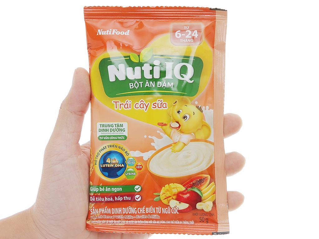 Bột ăn dặm NutiFood Nuti IQ 2 vị ngọt hộp 200g (6 - 24 tháng) 9