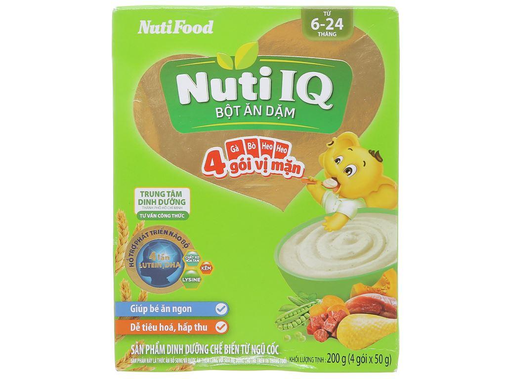 Bột ăn dặm NutiFood Nuti IQ 3 vị mặn hộp 200g (6 - 24 tháng) 1