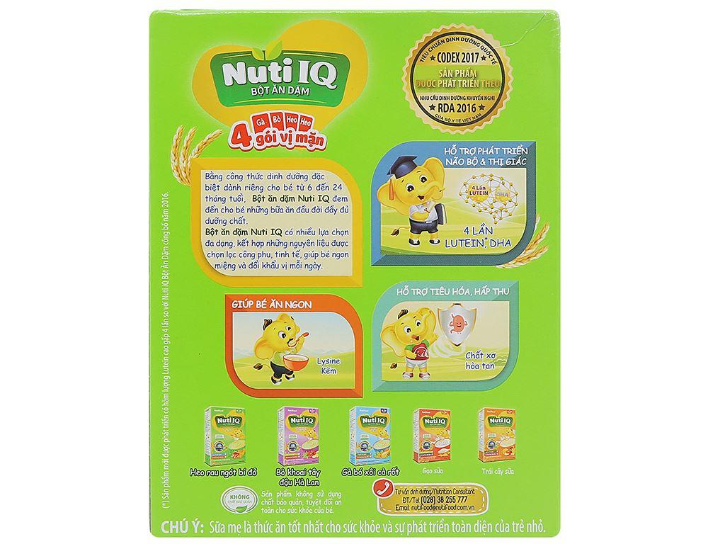 Bột ăn dặm NutiFood Nuti IQ 3 vị mặn hộp 200g (6 - 24 tháng) 2