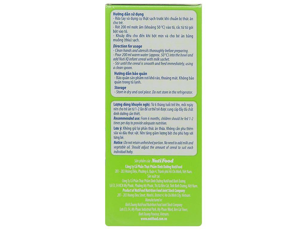Bột ăn dặm NutiFood Nuti IQ 3 vị mặn hộp 200g (6 - 24 tháng) 3