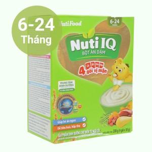 Bột ăn dặm NutiFood Nuti IQ 3 vị mặn hộp 200g (6 - 24 tháng)