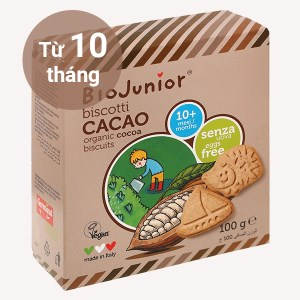Bánh ăn dặm hữu cơ Biojunior vị cacao hộp 100g (từ 10 tháng)