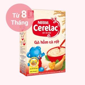 Bột ăn dặm Nestlé Cerelac gà hầm cà rốt hộp 200g (từ 8 tháng)