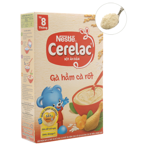 Bột ăn dặm Nestlé Cerelac gà hầm cà rốt từ 8 tháng 200g