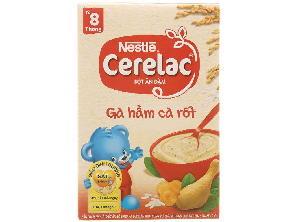Bột ăn dặm Nestlé Cerelac gà hầm cà rốt từ 8 tháng 200g 1