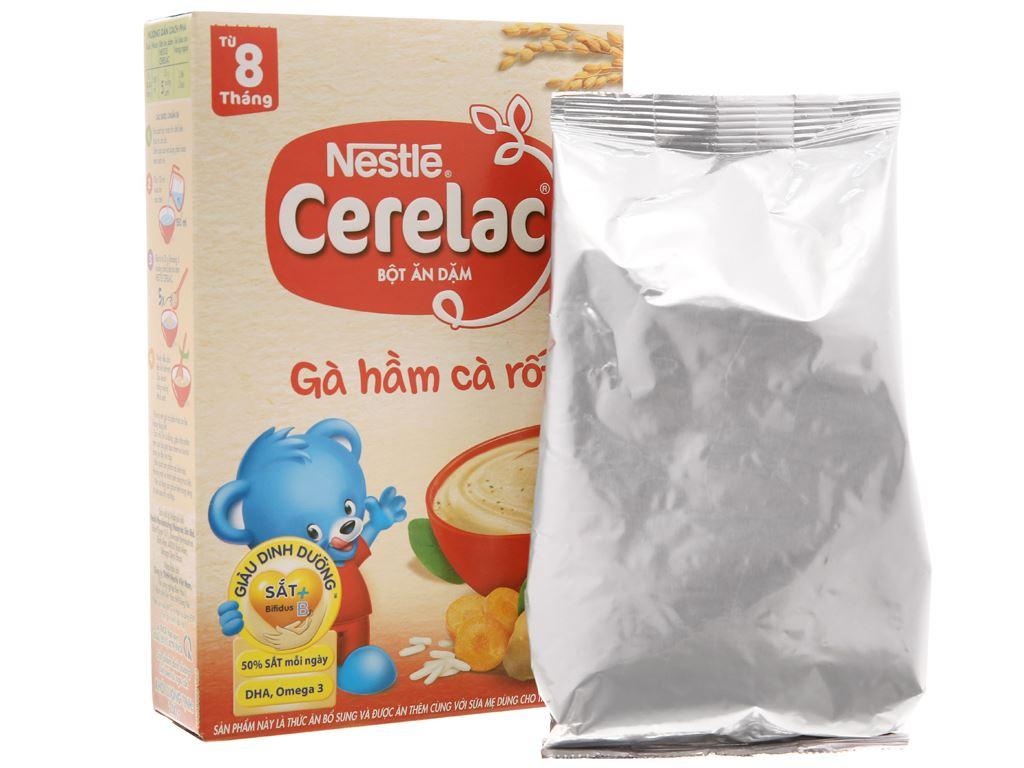 Bột ăn dặm Nestlé Cerelac gà hầm cà rốt từ 8 tháng 200g 3