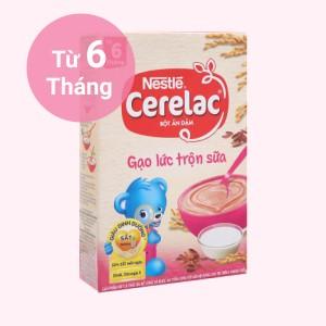 Bột ăn dặm Nestlé Cerelac gạo lức trộn sữa hộp 200g (từ 6 tháng)
