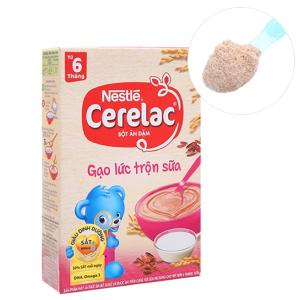 Bột ăn dặm Nestlé Cerelac gạo lức trộn sữa từ 6 tháng 200g
