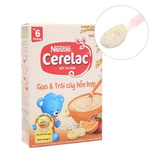Bột ăn dặm Nestlé Cerelac gạo và trái cây hỗn hợp từ 6 tháng 200g