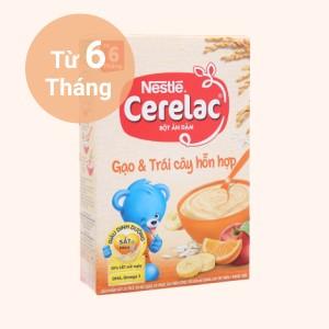 Bột ăn dặm Nestlé Cerelac gạo và trái cây hỗn hợp hộp 200g (từ 6 tháng)