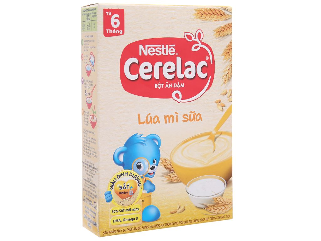 Bột ăn dặm Nestlé Cerelac lúa mì sữa trên 6 tháng 200g 2