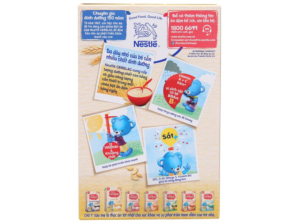 Bột ăn dặm Nestlé Cerelac lúa mì sữa hộp 200g (từ 6 tháng) 3